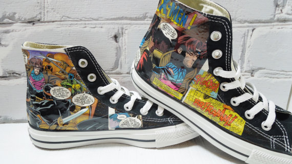 Comic-Book Themed Converse High Tops from Moonlightdecortor