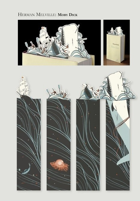 Moby Dick bookmarks from Felix Jud & Company