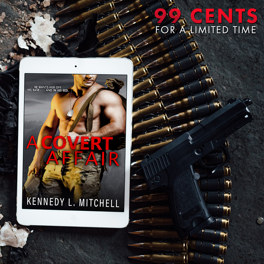 For a limited time, you can buy A COVERT AFFAIR, a stand alone adult romantic suspense by Kennedy L. Mitchell for just $0.99