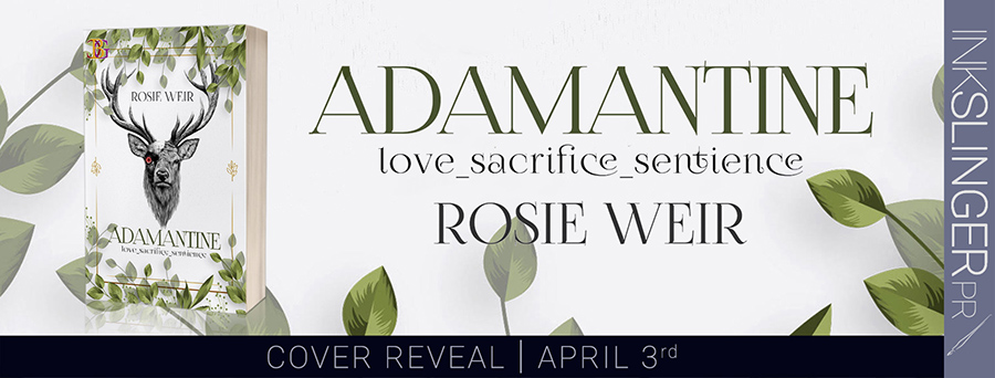 Cover reveal for ADAMANTINE, an adult scifi romance by Rosie Weir, releasing June 1, 2020