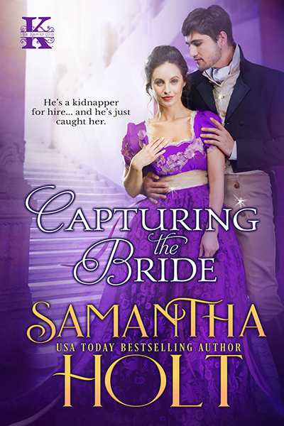 Cover for CAPTURING THE BRIDE, the first book in the adult historical romance series,The Kidnap club, by USA Today bestselling author, Samantha Holt