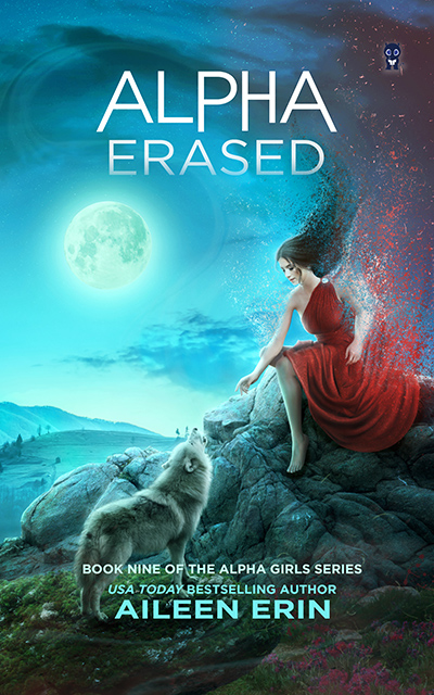 Cover for BEING ERASED, the ninth book in the young adult paranormal romance series, Alpha Girl, by USA Today bestselling author, Aileen Erin