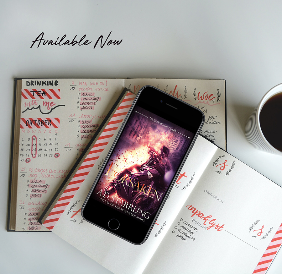 FORSAKEN, the fourth book in the adult urban fantasy series, Legion, by A.D. Starrling, is available now