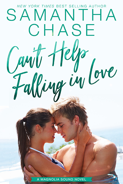 Cover to CAN'T HELP FALLING IN LOVE, the fifth book in the adult contemporary romance series, Magnolia Sound, by New York Times and USA Today bestselling author, Samantha Chase