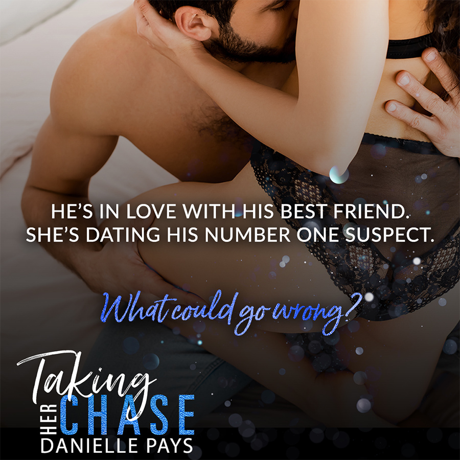 Teaser from for TAKING HER CHASE, the second book in the adult contemporary romance/romantic suspense series, Dare to Surrender, by Danielle Pays