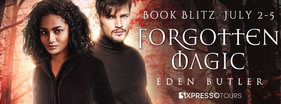 Welcome to the book blitz for FORGOTTEN MAGIC, the first book in the adult paranormal romance series, Crimson Cove, by Eden Butler