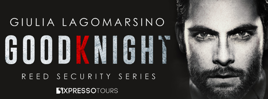 Author Giulia Lagomarsino is revealing the cover to GOODKNIGHT, the 26th book in her adult contemporary romance/romantic suspense series, Reed Security, releasing August 10, 2020