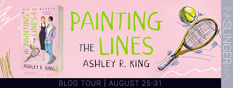 Welcome to the blog tour for PAINTING THE LINES, the first book in the adult contemporary sports romance series, Ace of Hearts, by Ashley R. King