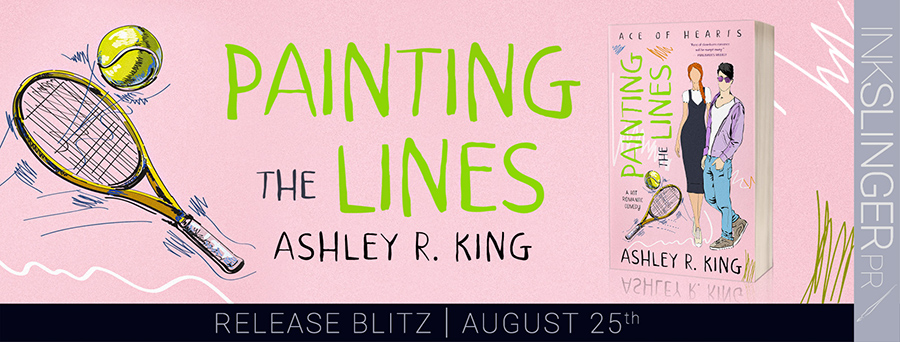 Today is release day for PAINTING THE LINES, the first book in the adult contemporary sports romance series, Ace of Hearts, by Ashley R. King
