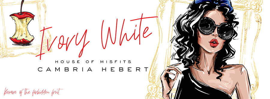 Award-winning author, Cambria Hebert, is revealing the cover to IVORY WHITE, a standalone novel in her adult contemporary romance series, House of Misfits, releasing September 18, 2020
