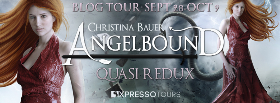 Welcome to the blog tour for QUASI REDUX, the eighth book in the young adult fantasy/paranormal romance series, Angelbound Origins, by Christina Bauer