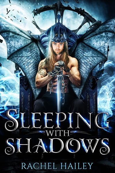 SLEEPING WITH SHADOWS, a standalone adult paranormal romance, by Rachel Hailey