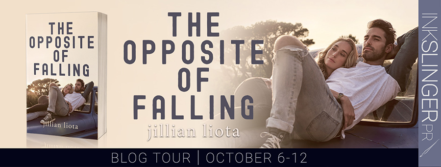 Welcome to the blog tour for THE OPPOSITE OF FALLING, the second book in the adult contemporary romance series, Cedar Point, by Jillian Liota