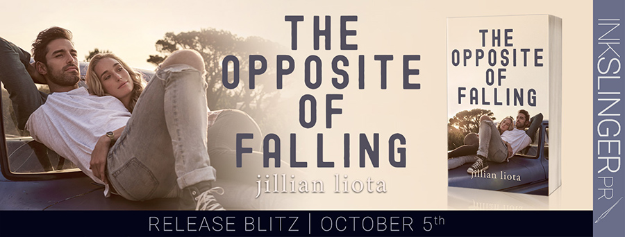 Today is release day for THE OPPOSITE OF FALLING, the second book in the adult contemporary romance series, Cedar Point, by Jillian Liota