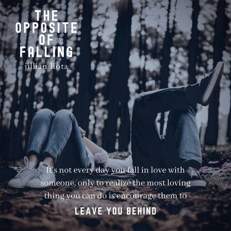 THE OPPOSITE OF FALLING, the second book in the adult contemporary romance series, Cedar Point, by Jillian Liota