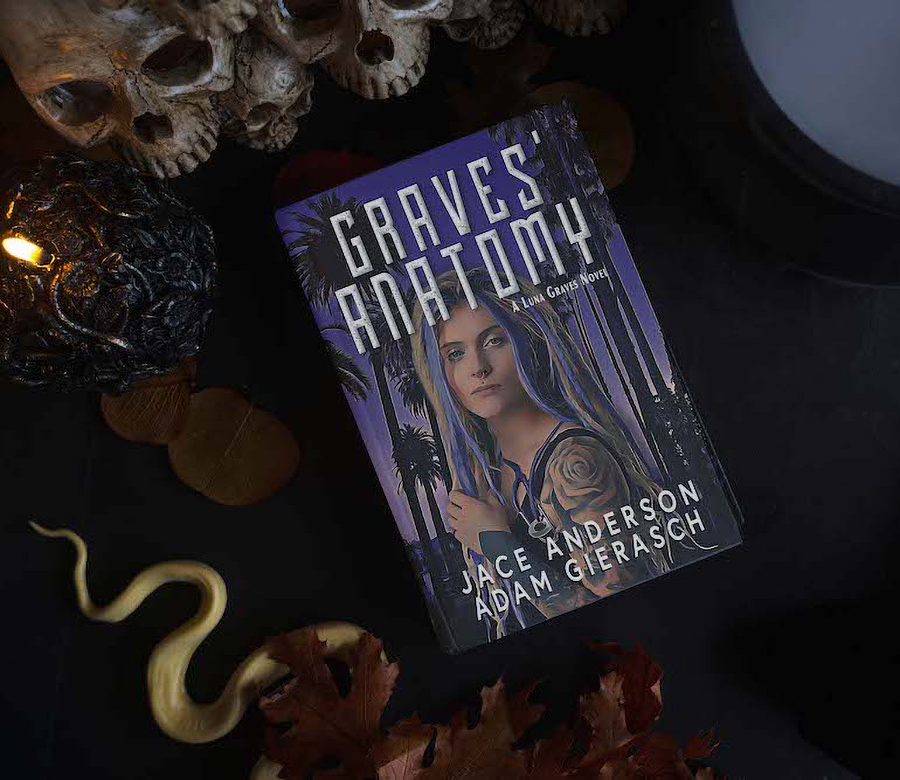 GRAVES' ANATOMY, the first book in the new adult urban fantasy series, Luna Graves, by Adam Gierasch and Jace Anderson
