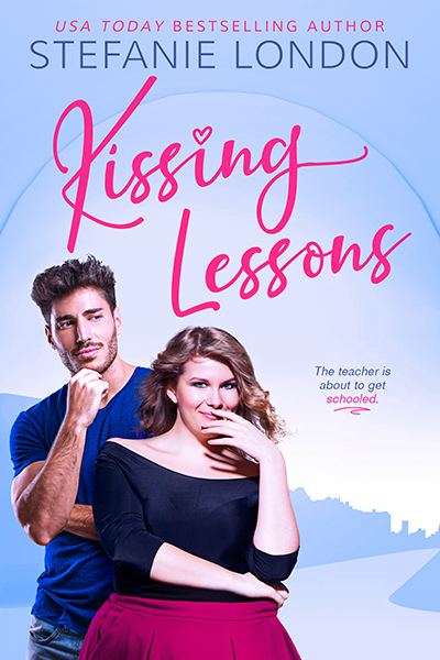 KISSING LESSONS, the first book in the new adult contemporary romantic comedy series, Kissing Creek, by Stefanie London