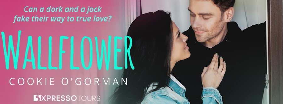 Cookie O'Gorman is unveiling the cover to WALLFLOWER, a stand-alone young contemporary romance, releasing March 25, 2021