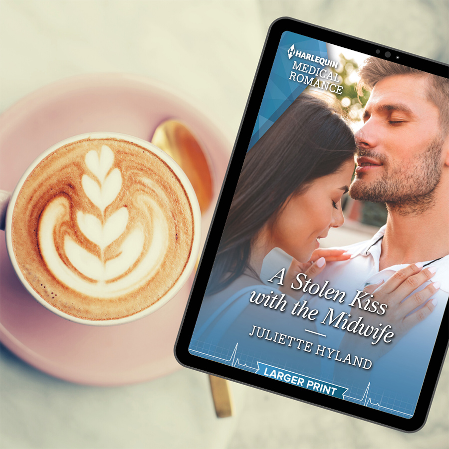 Read A STOLEN KISS WITH THE MIDWIFE, the 1,157th book in the adult contemporary romance series, Harlequin Medical Romances, by Juliette Hyland now!
