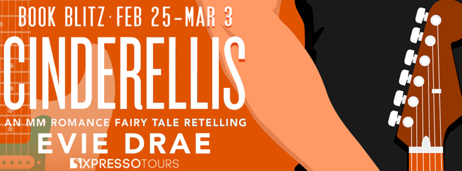 Welcome to the book blitz for OFF CINDERELLIS, the second book in the adult LGBTQ+ fairytale retelling romance series, Once Upon a Vegas Night, by Evie Drae