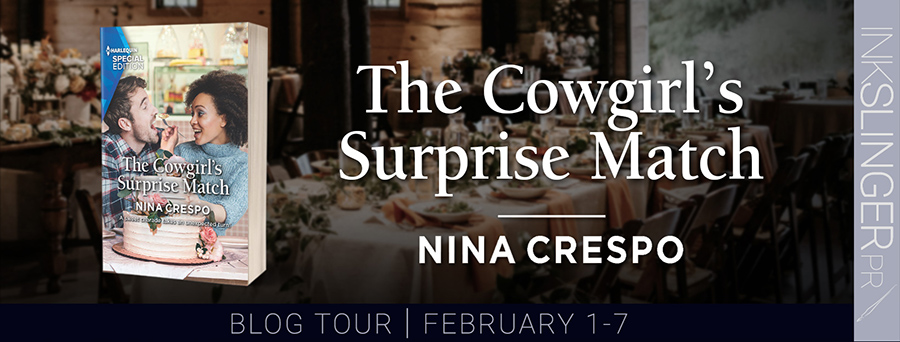 Welcome to the blog tour for THE COWGIRL'S SURPRISE MATCH, the third book in the adult contemporary romance series, Tillbridge Stables, by Nina Crespo