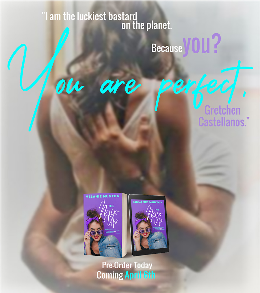 Teaser from THE MIX-UP, the third book in the adult contemporary romantic comedy series, Southern Hearts Club, by Melanie Munton