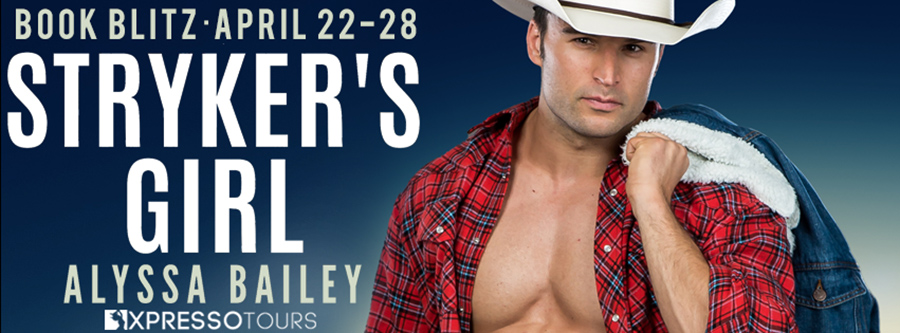 Welcome to the book blitz for STRYKER'S GIRL, the first book in the adult romantic suspense series, Red Eagle Ranch, by USA Today bestselling author, Alyssa Bailey