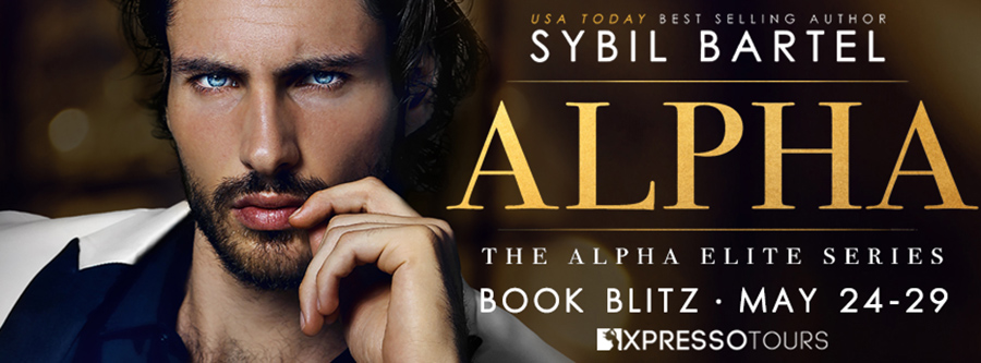 Welcome to the book blitz for ALPHA, the first book in the adult contemporary romance/romantic suspense series, Alpha Elite, by USA Today bestselling author Sybil Bartel