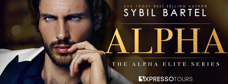USA Today bestselling author Sybil Bartel is unveiling the cover to ALPHA, the first book in her adult contemporary romance/romantic suspense series, Alpha Elite, releasing May 24, 2021