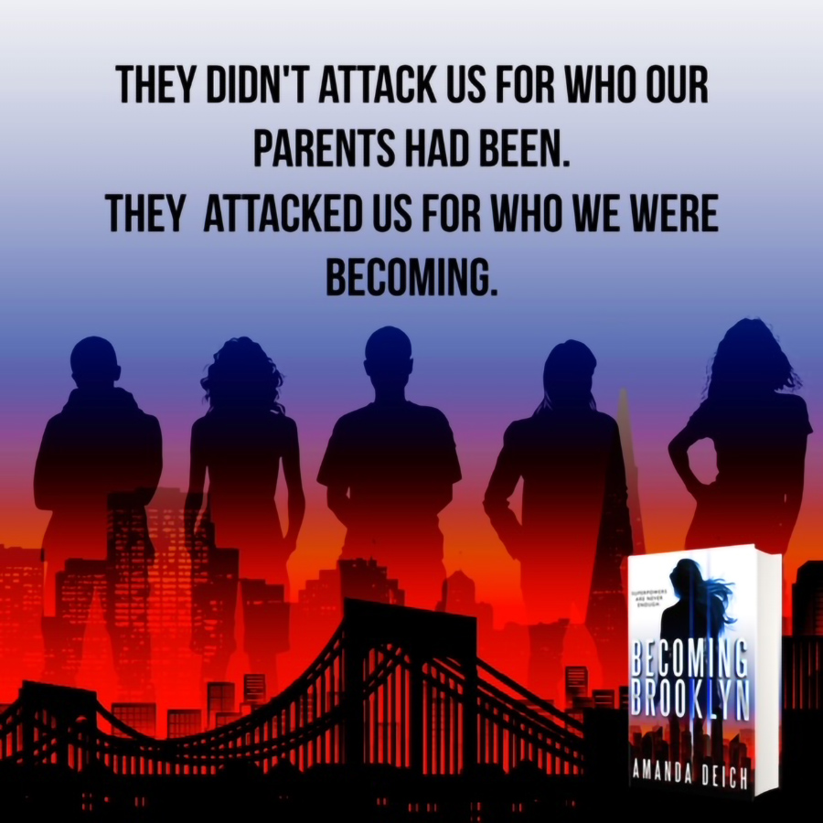 Teaser from BECOMING BROOKLYN, a stand-alone young adult contemporary scifi, by Amanda Deich