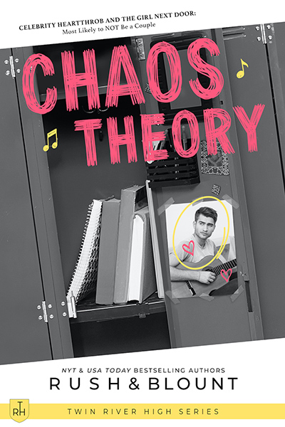CHAOS THEORY, the third book in the young adult contemporary romance series, Twin River High, by Lynn Rush and Kelly Anne Blount