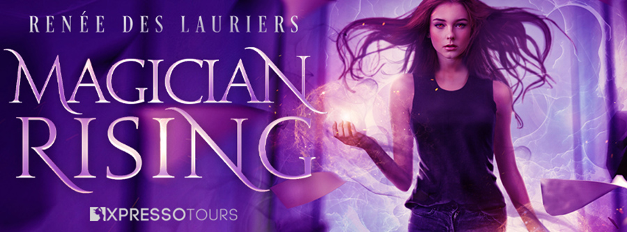 Author Renée des Lauriers is revealing the cover to MAGICIAN RISING, a stand-alone new adult urban fantasy, releasing May 25, 2021
