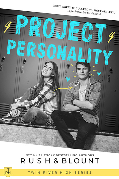 PROJECT PERSONALITY, the second book in the young adult contemporary romance series, Twin River High, by Lynn Rush and Kelly Anne Blount
