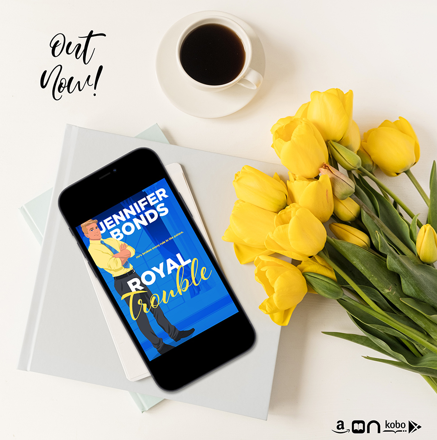 ROYAL TROUBLE, the second book in the adult contemporary romance series, Royally Engaged, by Jennifer Bonds is Out Now!
