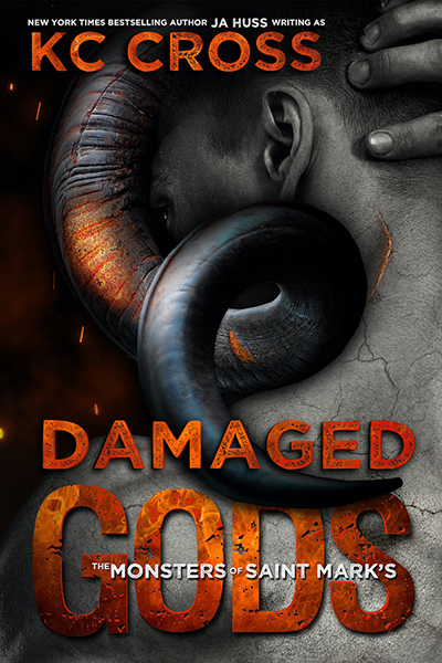 DAMAGED GODS, the first book in the adult scifi alien romance series, The Monsters of St. Mark's, by New York Times bestselling author, J.A. Huss writing as K.C. Cross