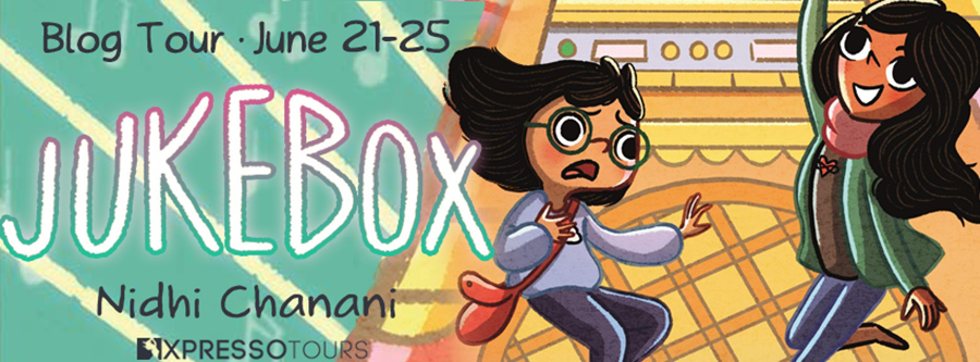 Welcome to the blog tour for JUKEBOX, a standalone middle grade time-traveling mystery graphic novel, by Nidhi Chanani