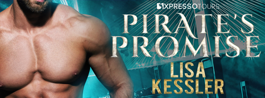 Entangled Amara and author Lisa Kessler are revealing the cover to PIRATE'S PROMISE, the fifth book in the adult paranormal romance series, Sentinels of Savannah, releasing July 26, 2021