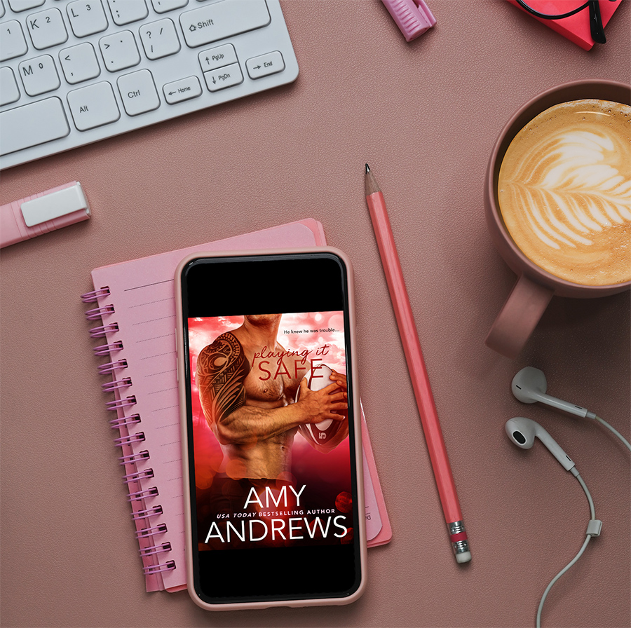 Teaser from PLAYING IT SAFE, a standalone adult contemporary sports romance, by Amy Andrews