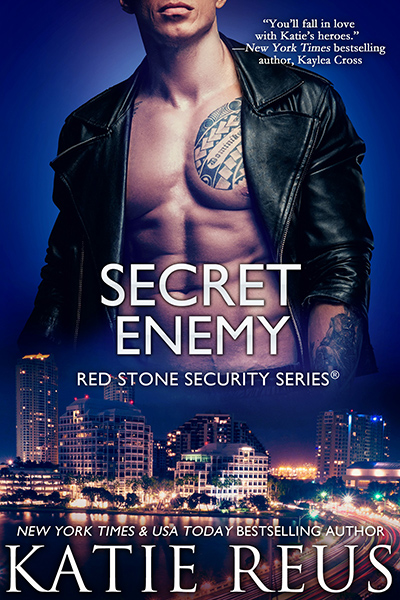 SECRET ENEMY,the sixteenth book in the adult romantic suspense series, Red Stone Security, byNew York TimesandUSA Todaybestselling author, Katie Reus