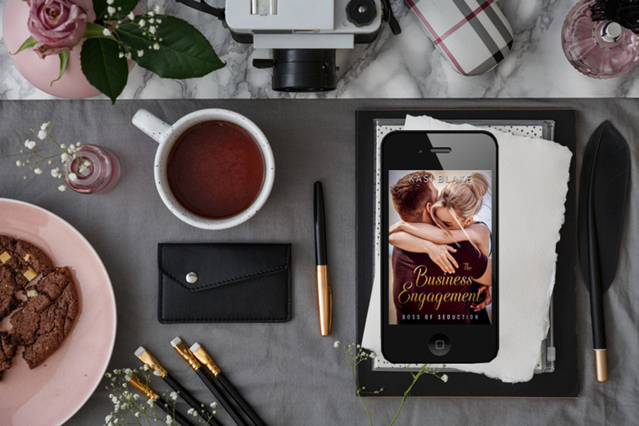 Teaser from THE BUSINESS ENGAGEMENT, the first book in the adult contemporary romance series, Boss of seduction, by Kasi Blake