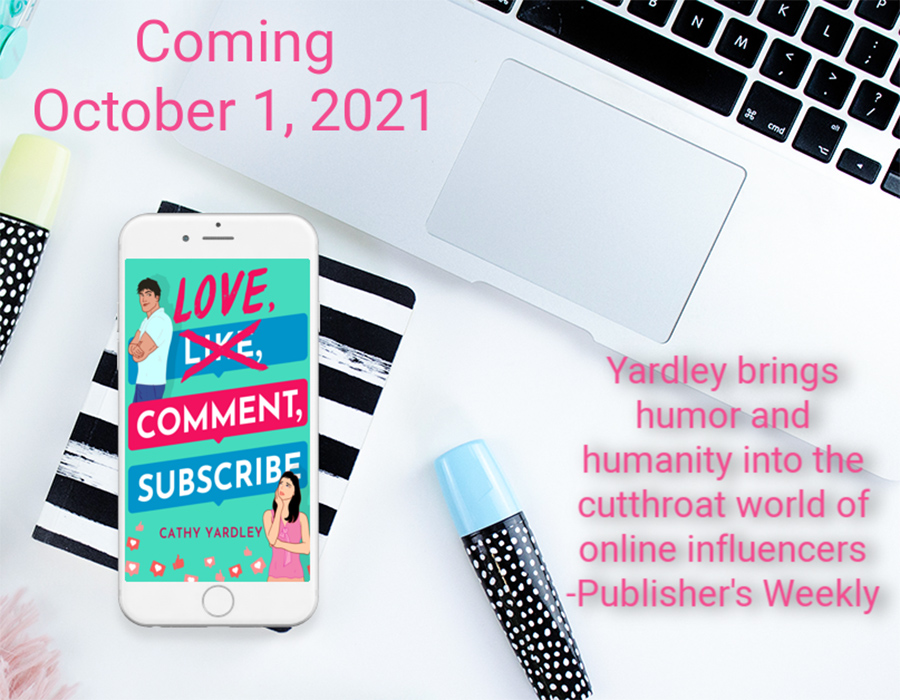 Teaser from LOVE, COMMENT, SUBSCRIBE, the first book in the adult contemporary romantic comedy series, Ponto Beach Reunion, by Cathy Yardley