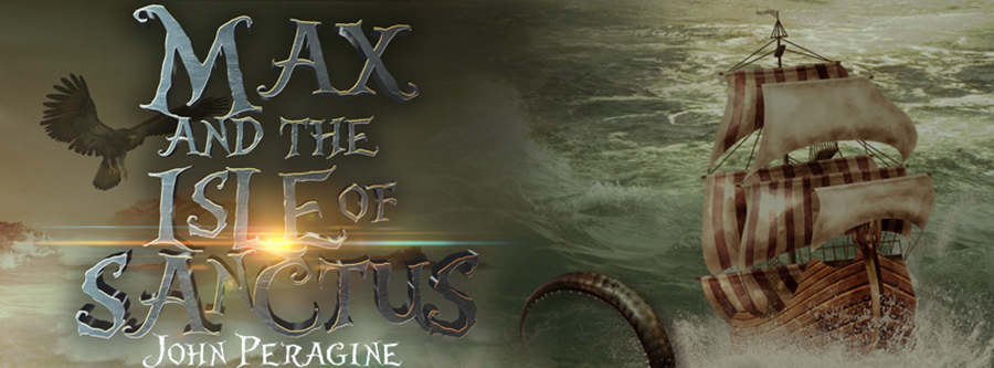 Author John Peragine is is revealing the cover to MAX AND THE ISLE OF SANCTUS, the second book in his middle grade fantasy series, Secrets of the Twilight Djinn, releasing October 19, 2021