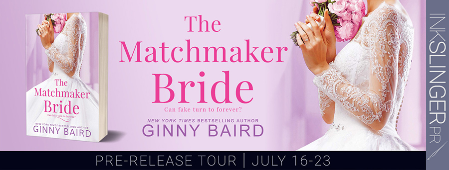 Welcome to the pre-release tour for THE MATCHMAKER BRIDE, the second stand-alone book in the adult contemporary romance series, Blue Hill Brides, by New York Times and USA Today bestselling author, Ginny Baird, releasing July 27, 2021