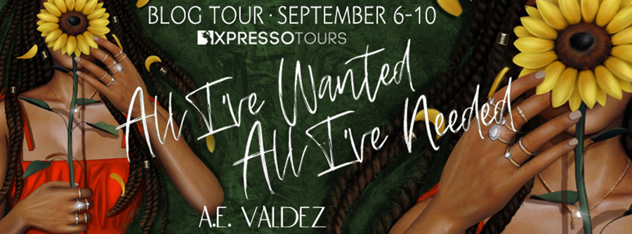Welcome to the blog tour for ALL I'VE WANTED, ALL I'VE NEEDED, a standalone adult contemporary romance, by A.E. Valdez