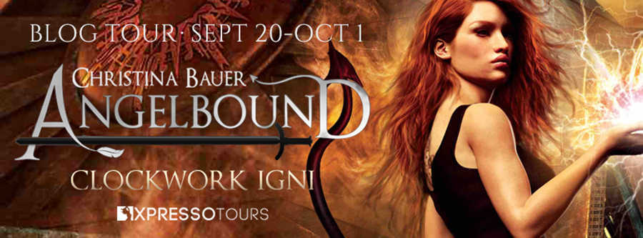 Welcome to the blog tour for CLOCKWORK IGNI, the ninth book in the young adult fantasy/paranormal romance series, Angelbound Origins, by Christina Bauer