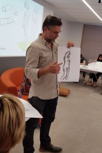 Thomas Hamlyn-Harris life drawing class