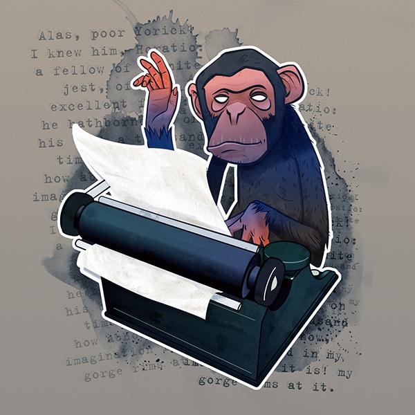 monkey typing hamlet