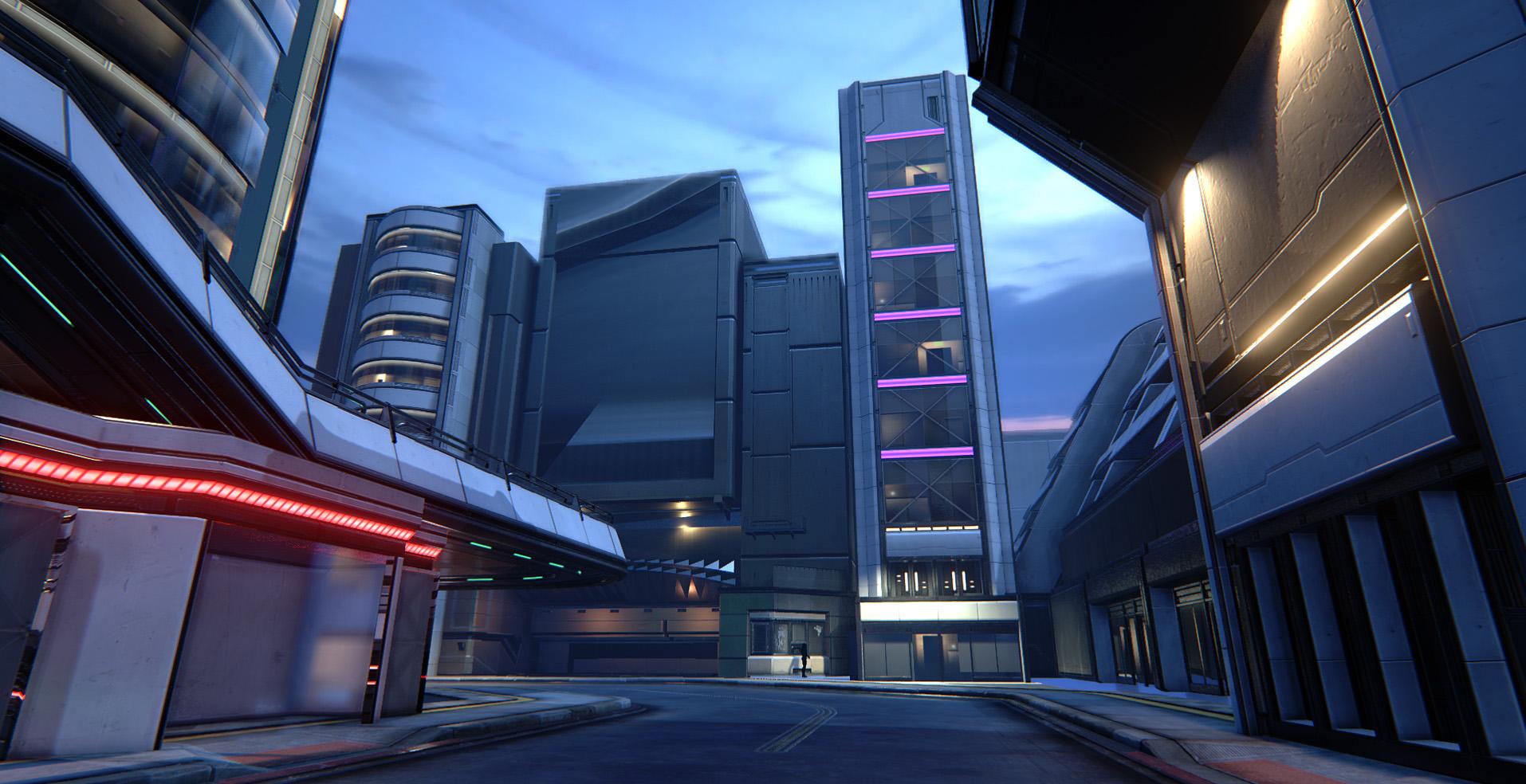 [UE4] SAMPA - A near-future sci-fi city — polycount