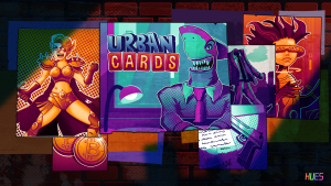 Defeat greedy sharks and cyborg DJs in Urban Cards