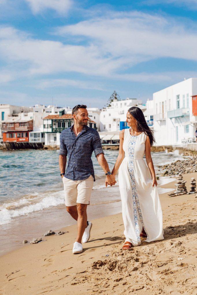 Grèce | Ville de Mykonos | Balade sur la petite Venise en amoureux